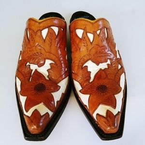 Arguijo cowgirl handtooled mules 5